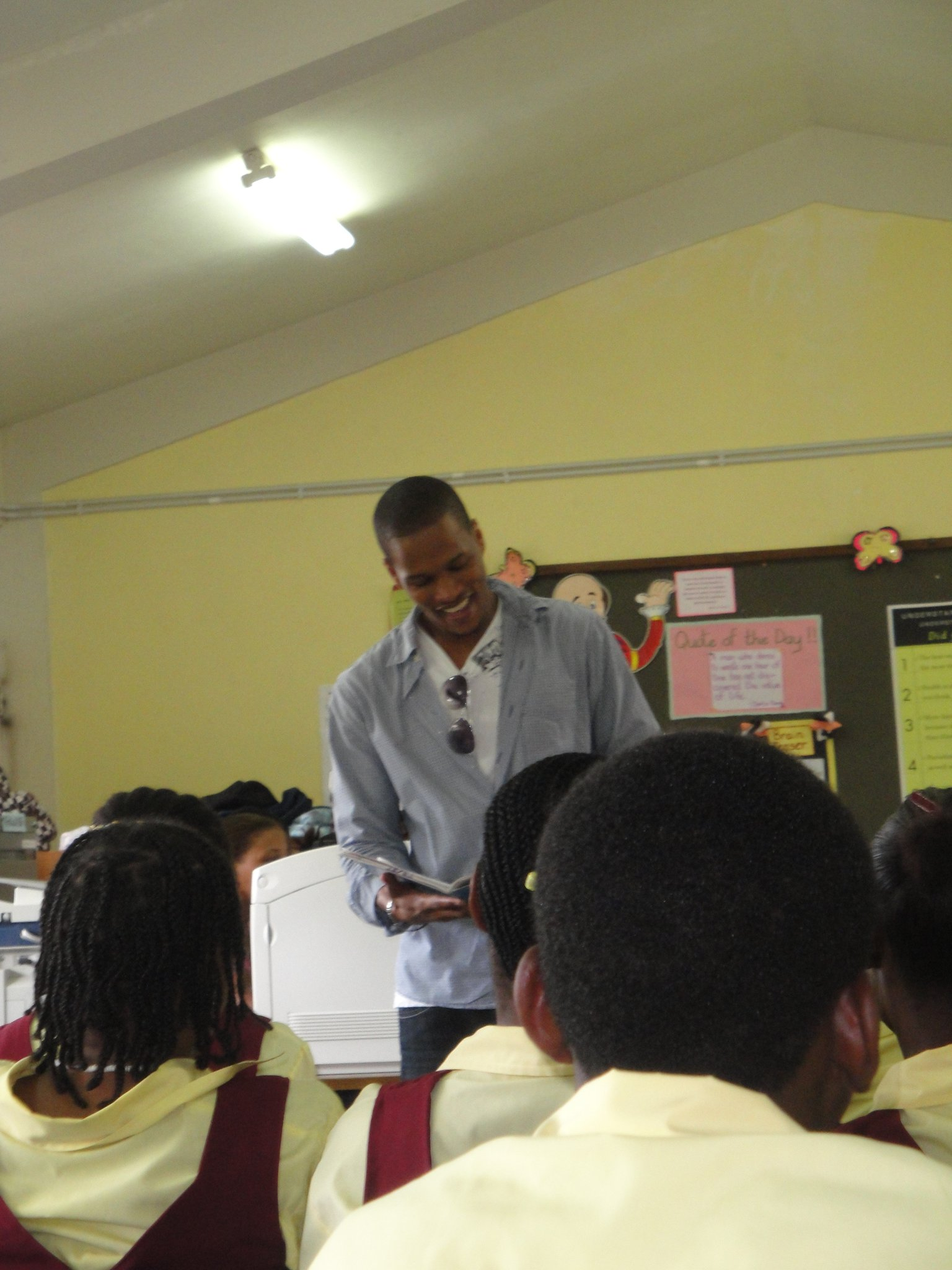 Performing at Soufriere Comprehensive Secondary School