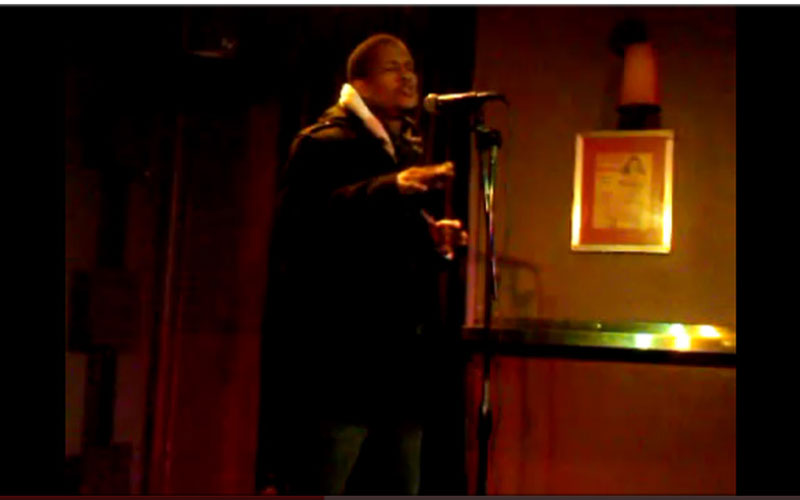Stephen performing at Bar 13, in Lower Manhattan, New York