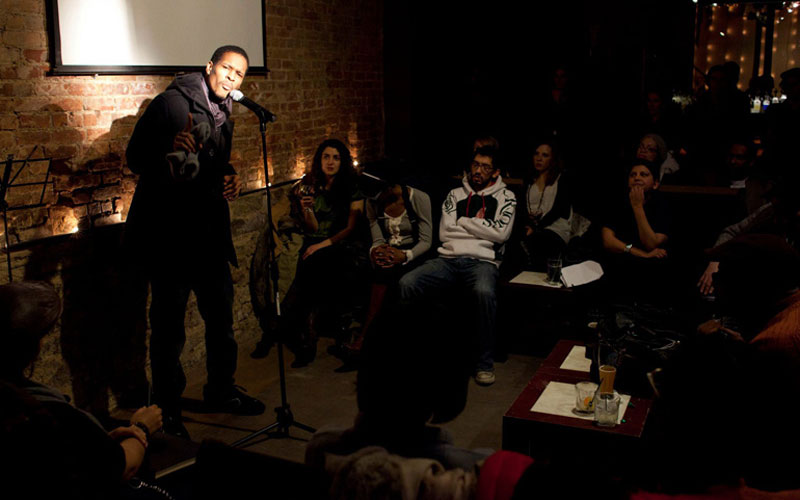 Performing at The Inspired Word NYC, Manhattan, New York